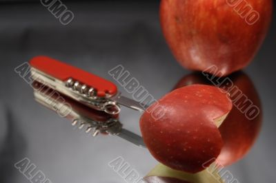 Apple Heart And Knife