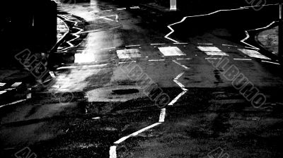 abstract of zebra road crossing