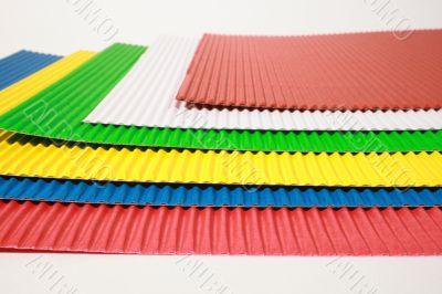 crimped colour paper