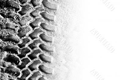 Tyre tread with copyspace