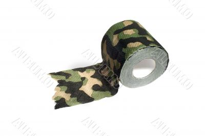 toilet paper, camouflage color