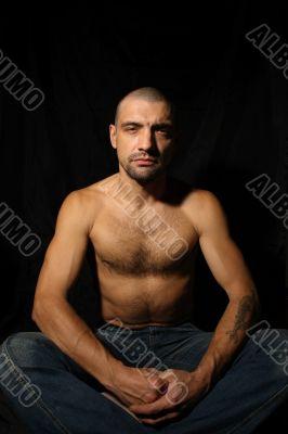 Man sitting and meditation