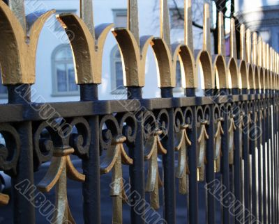 Iron ancient fence