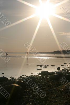 sun over coast