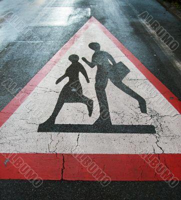 Traffic sign `school`