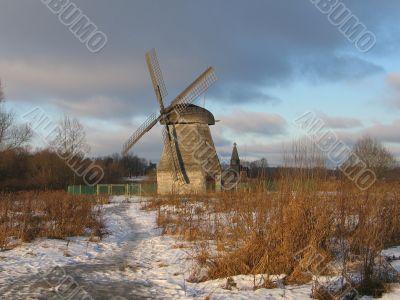 Mill in winter