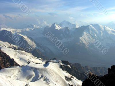 high mountain peaks
