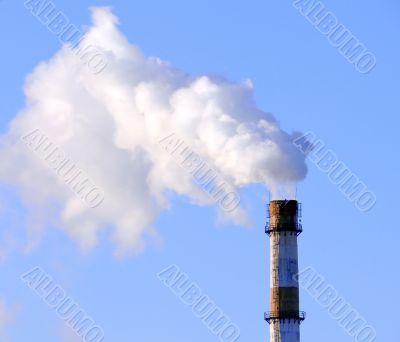 Smoking factory pipe