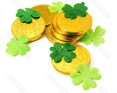 Saint Patrick`s Gold and clover