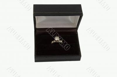 Diamond ring in the box