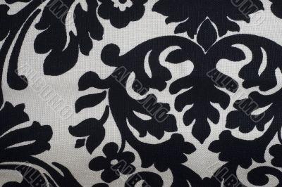 Black floral texture pattern