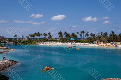 Paradise island lagoon