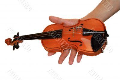 Small violin in a hand