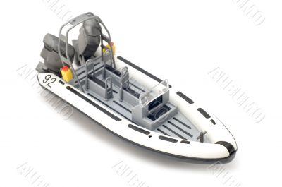motor boat on white