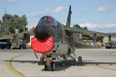 Attack plane up close