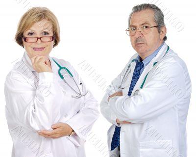 Couple of seniors doctors