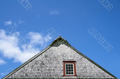 Roof of an old rustic house