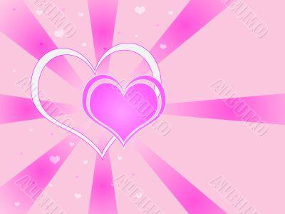 Two Hearts Vortex Background