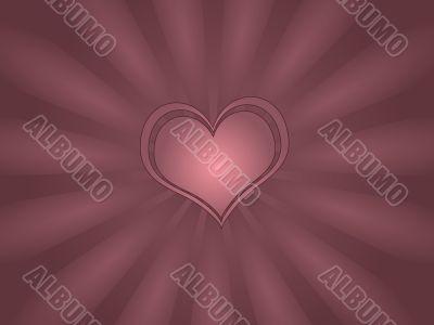 Single Heart Greeting Card