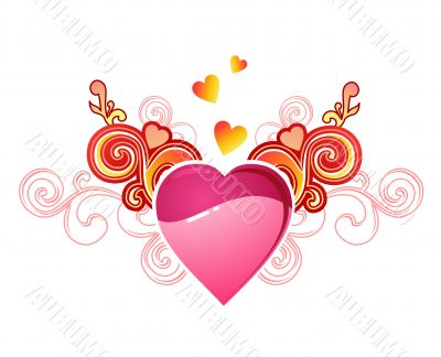 valentine`s heart with love / vector