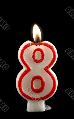 Burning Eight Candle