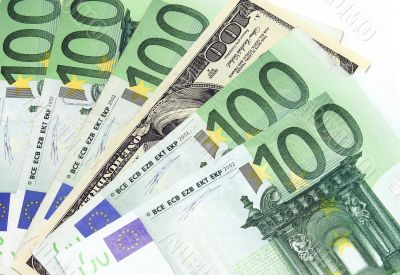 Money: dollars and euros