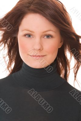 Portrait of young beautiful woman