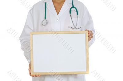anonymous doctor whit billboard