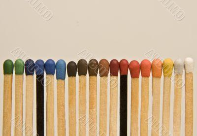 Multi-coloured matches