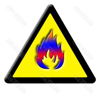 caution fire sign