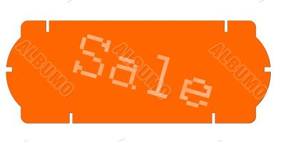 price sticker orange