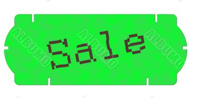 price sticker green
