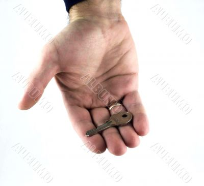 Hand with a key