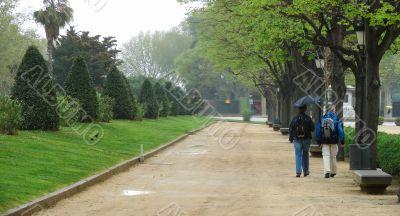 Botanical garden in Barcelona