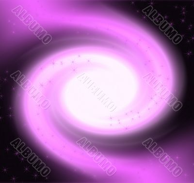 Purple Swirl with Sparkles