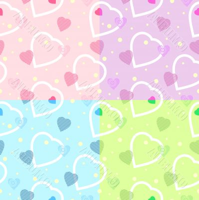 seamless heart pattern for backgrounds / vector