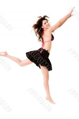 happy cheerleader jump