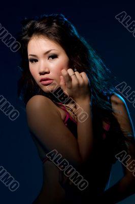sensual alluring look