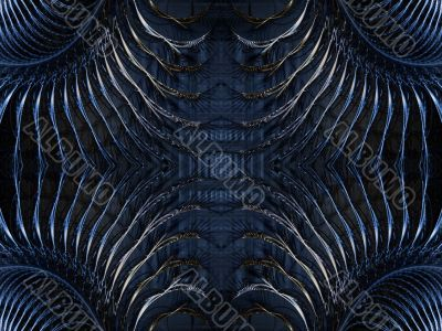 Fractal Abstract Background - Fanning Corners