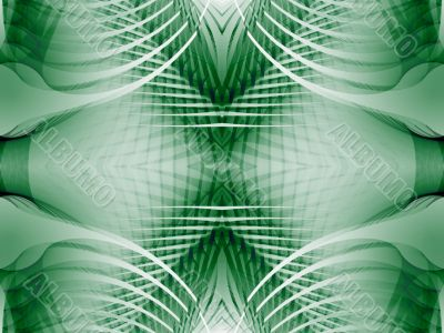 Fractal Abstract Background - Woven green