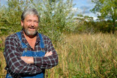 farmer in meadow