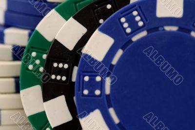 Dice and poker chips, splended