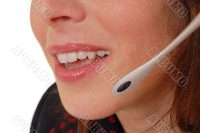 Beautiful hotline operator