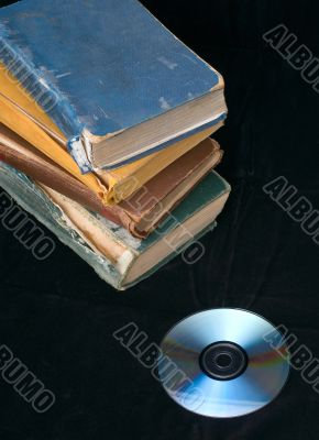 Old books and compact disc