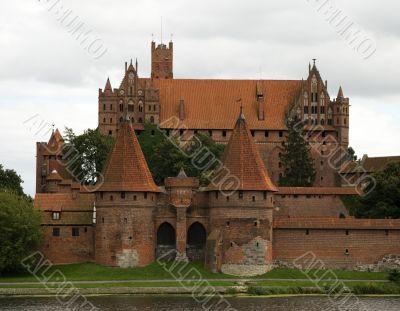 Malbork castle entrance