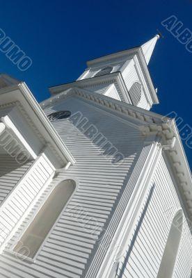wooden church spire