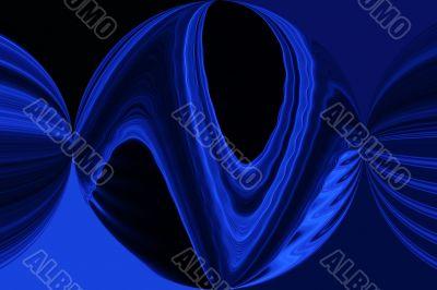 Digital Blue Round