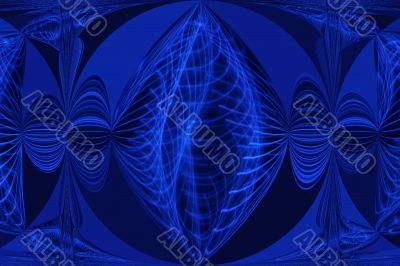 Digital Blue Shape