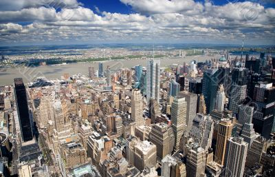 An aerial view of midtown Manhattan, New York