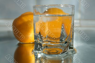 Cool water and oranges